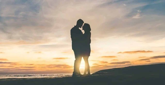 Affectionate Couple Silhouette
