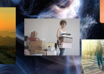 Young Woman Moving Collage