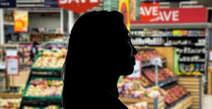 Woman Grocery Store Clerk Contemplating Salvation